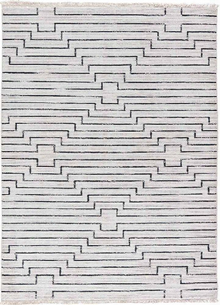 Satellite Rug In Vaporous Grey & Raven Design By Jaipur