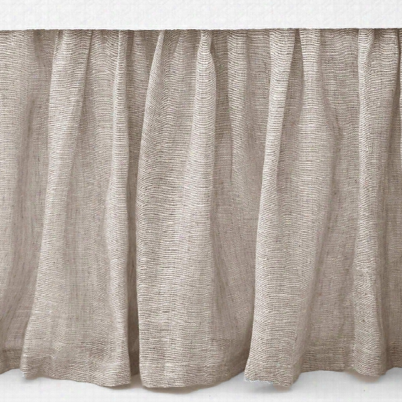 Savannah Linen Chambray Dove Grey Bed Skirt Design By Pine Cone Hill