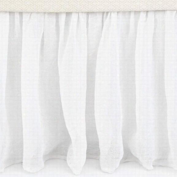 Savannah Linen Gauze White Bed Skirt Design By Pine Cone Hill