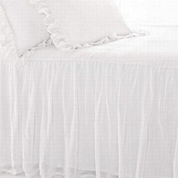 Savannah Linen Gauze White Bedspread Design By Pine Cone Hill