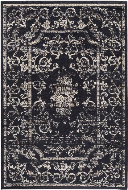 Saverio Rug In Navy & Cream Design By Surya
