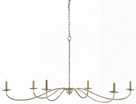 Saxon Chandelier In Silver Granello Design By Currey & Company