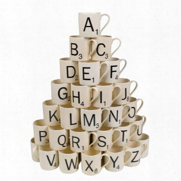 Scrabble Mug Letters A-z Design By Wild & Wolf