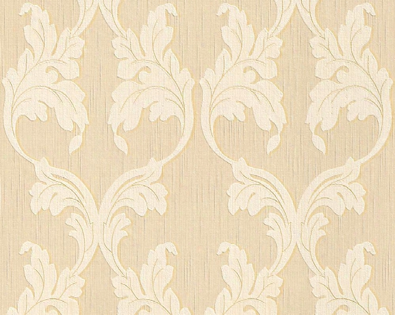 Scrollwork Floral Curve Wallpaper In Beige And Cream Design By Bd Wall