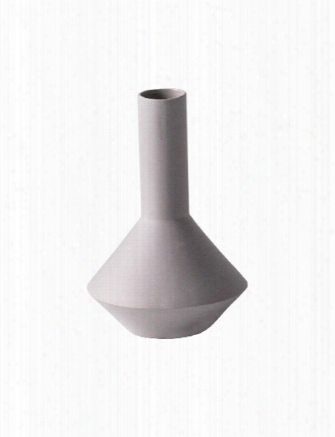 Sculpt  Vase Pod In Grey Design By Ferm Living