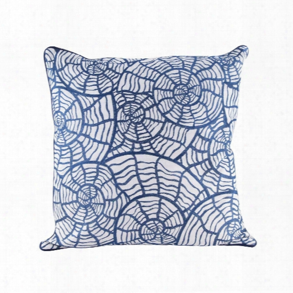 Sea Shells Pillow W/ Goose Down Insert Design By Lazy Susan