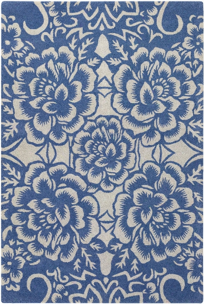 Seedling Collection Hand-tufted Area Rug In Blue & Ivory Design By Chandra Rugs