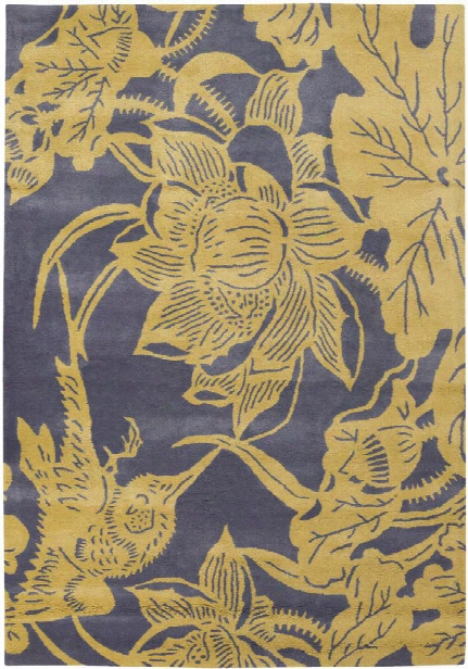 Seedling Collection Hand-tufted Area Rug In Grey & Yellow Design By Chandra Rugs