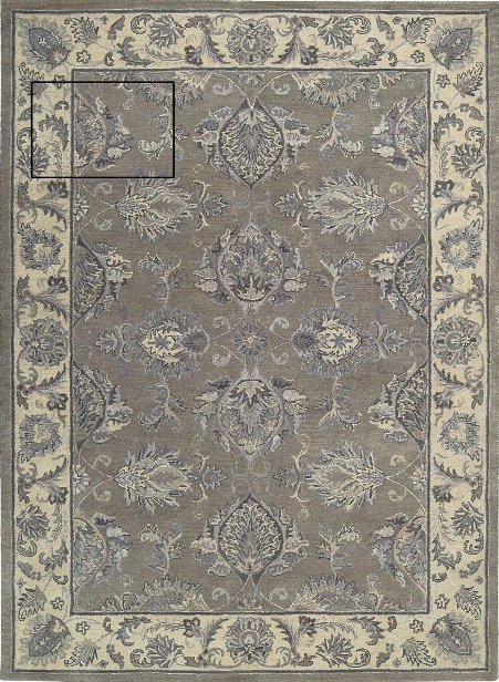 Sepia Rug In Grey & Beige Design By Nourison
