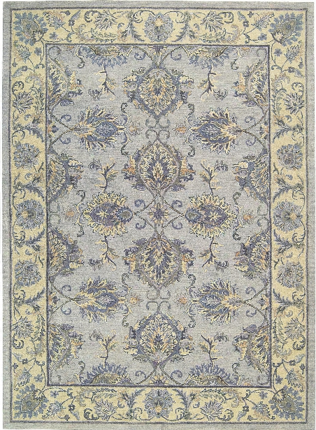 Sepia Rug In Grey & Ivory Design By Nourison