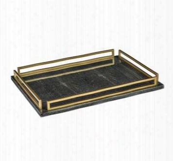 Seraphina Grand Charcoal Shagreen Tray Design By Interlude Home