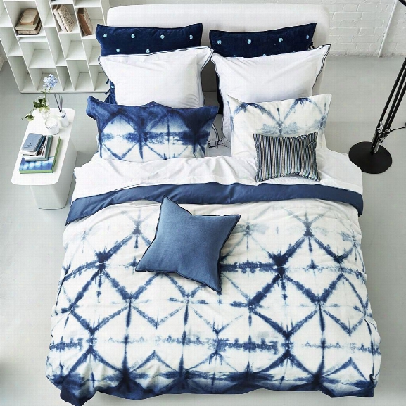 Seraya Indigo Bedding Design By Designers Guild