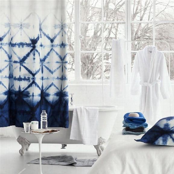 Seraya Indigo Shower Curtain Design By Designers Guild