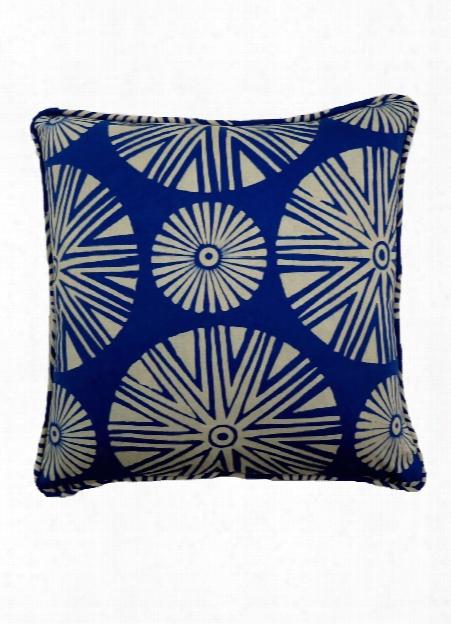 Seraya Pillow In Classic Blue & Tea Stain Design By Selamat