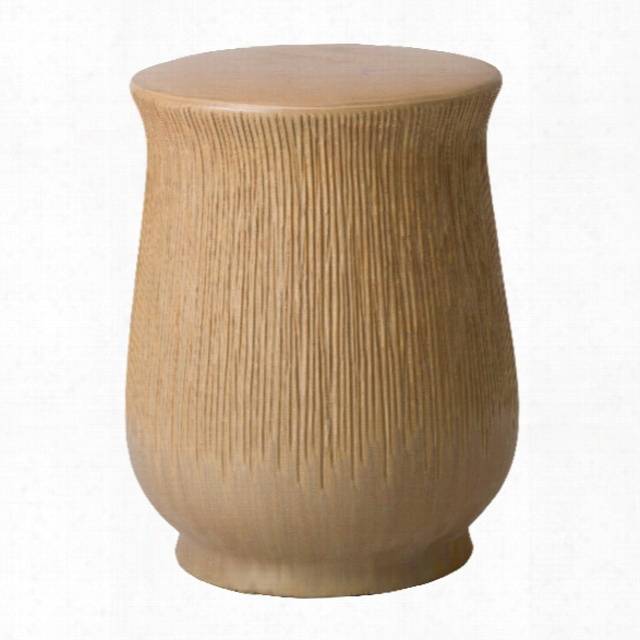 Serrated Chalice Garden Stool/table In Sand Rose Design By Emissary