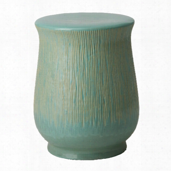Serrated Chalice Gardenstool/table In Teal Design By Emissary