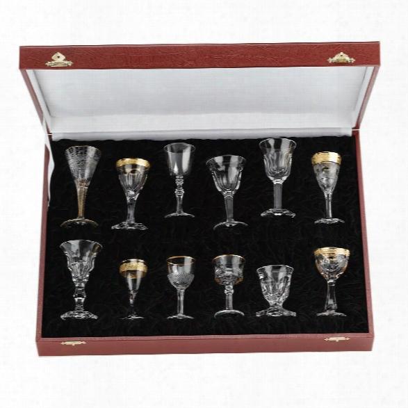 Set Of 12 Liqueur Glasses Design By Moser