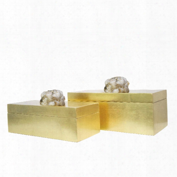Set Of 2 Astoria Quartz Rectangular Boxes Design By Couture Lamps