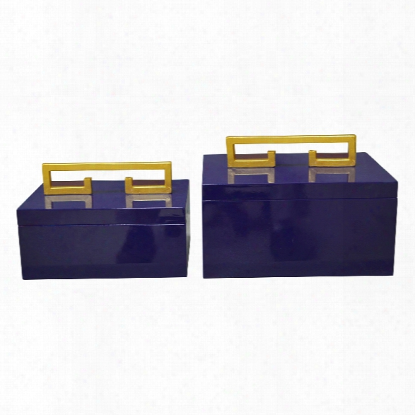 Set Of 2 Avondale Boxes Design By Couture Lamps