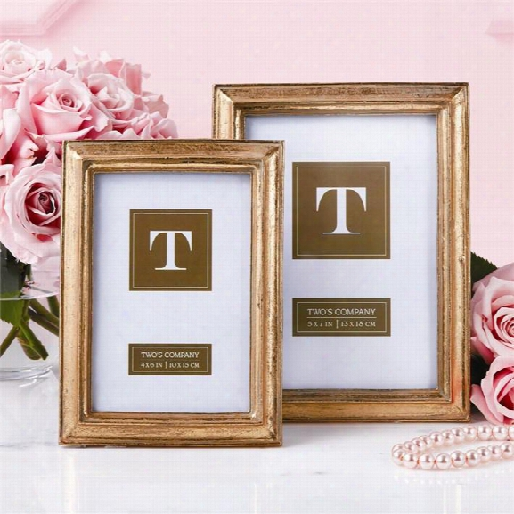 Set Of 2 Chatelet Gold Photo Frames Design By Twos Company