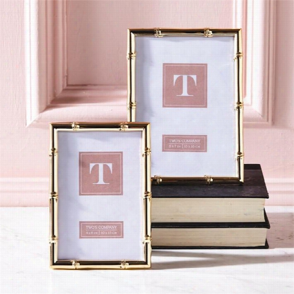 Set Of 2 Gold Gallery Rose Gold Photo Frames Design By Twos Company