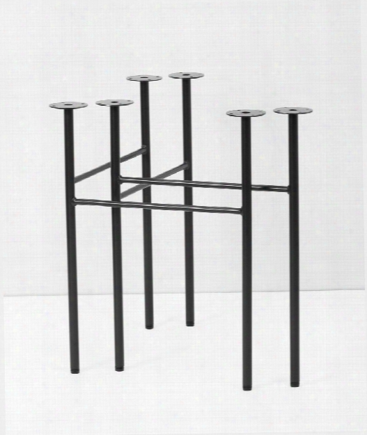 Set Of 2 Mingle Trestles Table Legs In Black Design By Ferm Living
