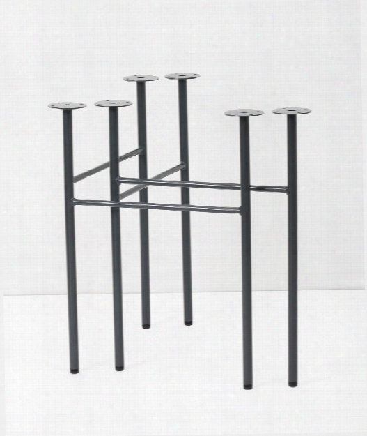 Set Of 2 Mingle Trestles Table Legs In Dark Blue Design By Ferm Living