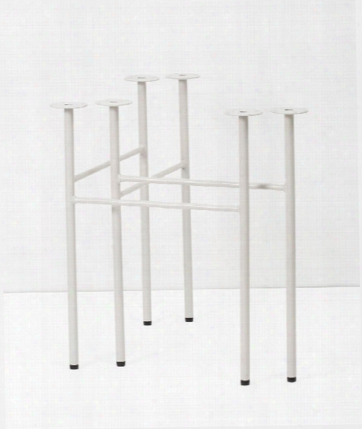 Set Of 2 Mingle Trestles Table Legs In Light Grey Design By Ferm Living