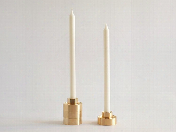 Set Of 2 Stacking Candle Holders By Fs Objects