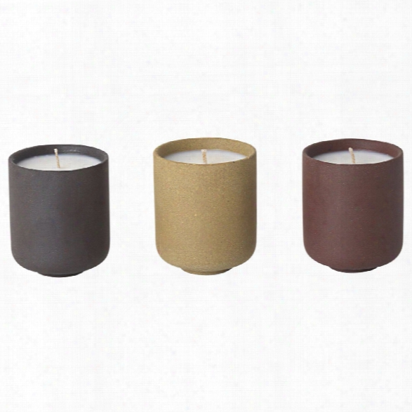 Set Of 3 Sekki Scented Soy Candles Design By Ferm Living