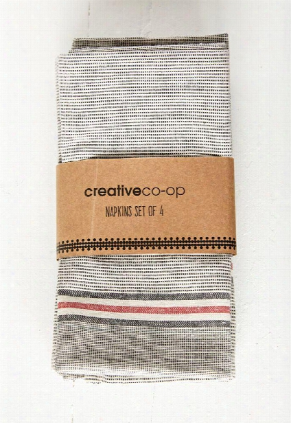 Set Of 4 Cotton Chambray Napkins Design By Bd Edition