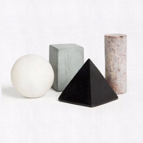 Set Of 4 Drink Rocks Shapes Design By Areaware