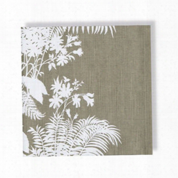 Set Of 4 Shadow Floral Pebble Napkins Design By Florence Broadhurst