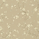 Bella Floral Wallpaper in Beige by Ronald Redding for York Wallcoverings