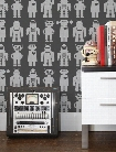 Big Robots Wallpaper in Thunder design by Aimee Wilder