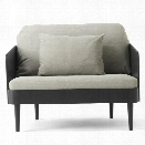 Septembre Arm Chair in Black Ash & Light Grey Melange design by Menu
