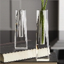 Set of 2 Diamond Crystal Vases design by Tozai