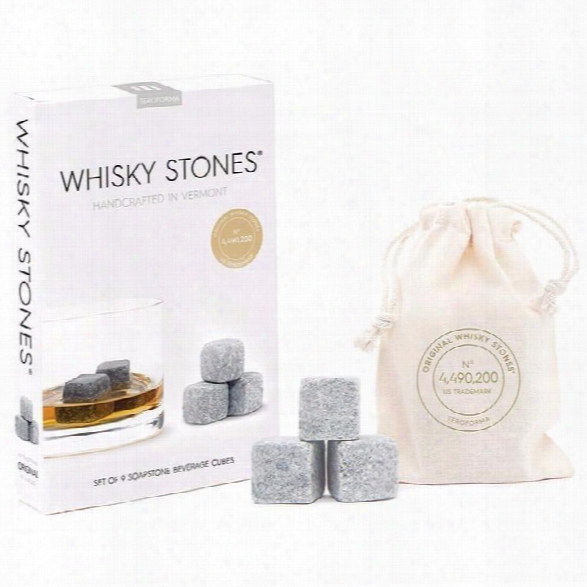 Set Of 9 Whisky Stones Beverage Cubes Classic Design By Teroforma