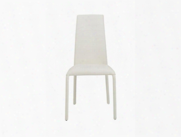 Set Of Four Camille Side Chairs In White Design By Euro Style