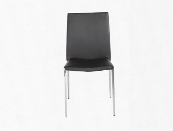 Set Of Four Diana Side Chairs In Black Design By Euro Style