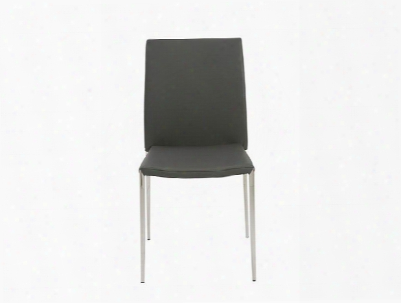 Set Of Four Diana Side Chairs In Grey Design By Euro Style