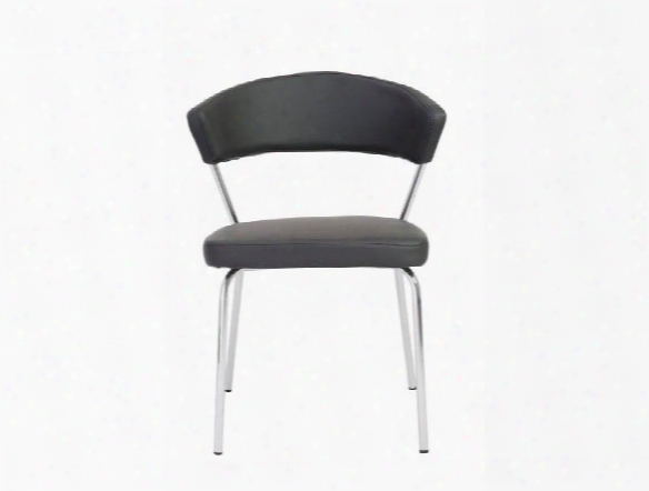 Set Of Four Draco Side Chairs In Black Design By Euro Style