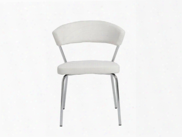 Set Of Four Draco Side Chairs In White Design By Euro Style