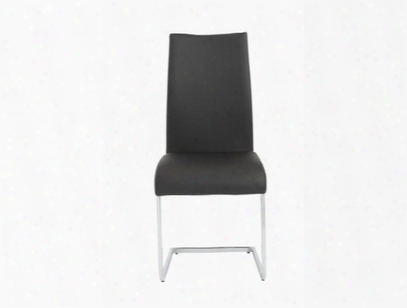 Set Of Four Epifanis Side Chairs In Black Design By Euro Style