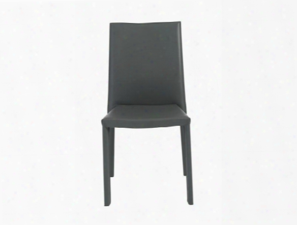 Set Of Four Hasina Stack Chairs In Grey Design By Euro Style