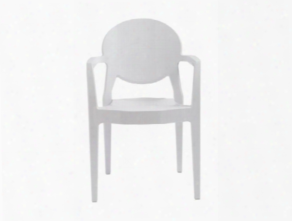 Set Of Four Igloo Arm Chairs In Glossy White Design By Euro Style