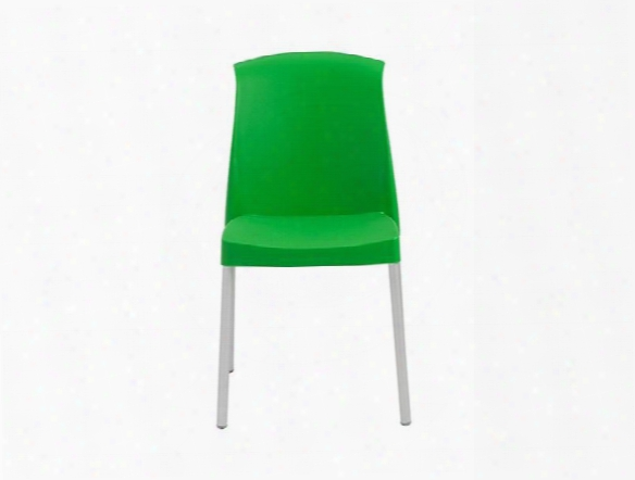 Set Of Six Jenny Side Chairs In Green Design By Euro Style