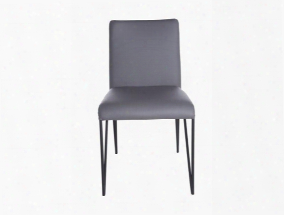 Set Of Two Amir Side Chairs In Dark Grey Design By Euro Style