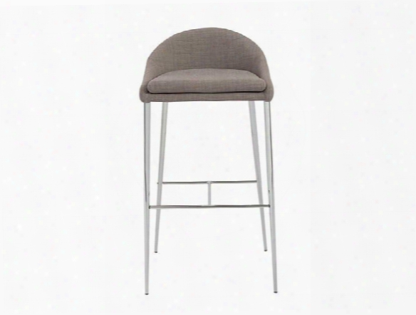Set Of Two Brielle-b Bar Stools In Grey Design By Euro Style