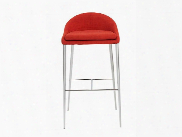 Set Of Two Brielle-b Bar Stools In Orange Design By Euro Style